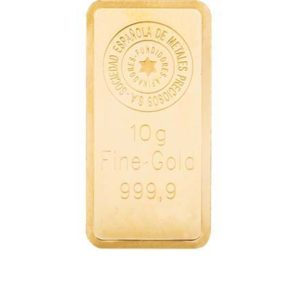 Lingote oro 10 gramos