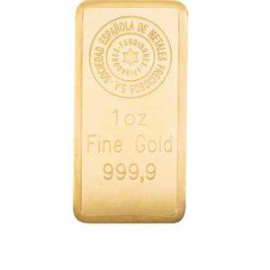 Lingote de oro 1 onza