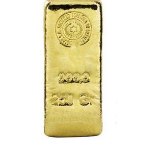 Lingote de oro 250 gramos
