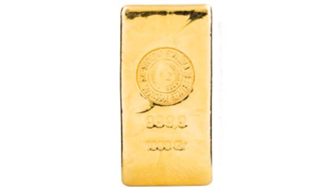 Lingote de oro 100 gramos