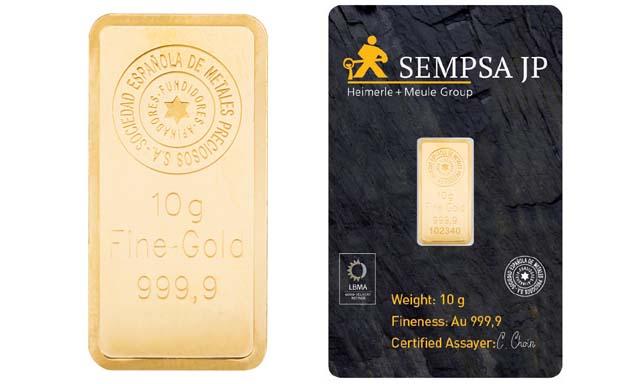 Compra y venta de lingotes de oro